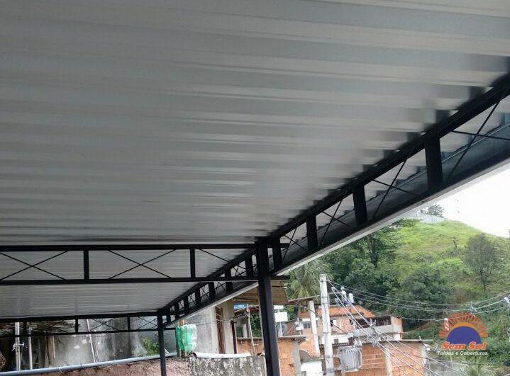 Toldo fixo estrutura de alumínio
